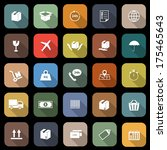 shipping flat icons with long... | Shutterstock .eps vector #175465643