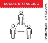 social distancing keep your... | Shutterstock .eps vector #1754669096