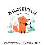 cute fox print design with...   Shutterstock .eps vector #1754672816