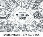 traditional mexican food....   Shutterstock .eps vector #1754677556