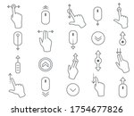 line scroll gesture icons for... | Shutterstock .eps vector #1754677826