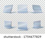table card holder mockup. glass ...   Shutterstock .eps vector #1754677829
