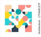 modern geometric poster.... | Shutterstock .eps vector #1754681279