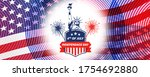 4th of july  usa celebration of ... | Shutterstock . vector #1754692880