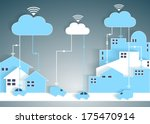 cloud computing paper cutout... | Shutterstock .eps vector #175470914