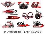 car motor race and motorsport...   Shutterstock .eps vector #1754721419
