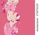 elegant valentine love floral... | Shutterstock .eps vector #175473119