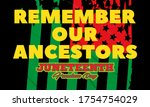juneteenth freedom day. african ... | Shutterstock .eps vector #1754754029