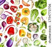 summer vegetable background.... | Shutterstock . vector #1754773706