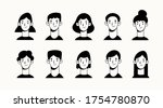 heads and necks of boys and... | Shutterstock .eps vector #1754780870