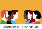 groups of people   people... | Shutterstock .eps vector #1754784086