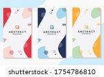 set of minimalist abstract...   Shutterstock .eps vector #1754786810