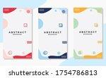 set of minimalist abstract... | Shutterstock .eps vector #1754786813