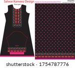 salwar kameez artwork for ready ... | Shutterstock .eps vector #1754787776