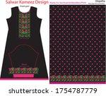 salwar kameez artwork for ready ... | Shutterstock .eps vector #1754787779