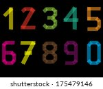 tape number set from 1 to 9... | Shutterstock .eps vector #175479146