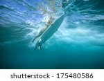 surfing a wave.under water...   Shutterstock . vector #175480586