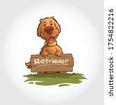 dog vector cartoon illustration.... | Shutterstock .eps vector #1754822216