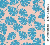 seamless pattern of leaves....   Shutterstock .eps vector #1754853839