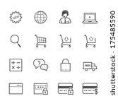 e commerce and online shopping... | Shutterstock .eps vector #175485590