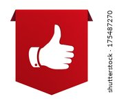 banner ribbon thumb up red icon ... | Shutterstock .eps vector #175487270