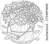 daisies in a bucket. flowers...   Shutterstock .eps vector #1754894840