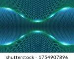 hexagonal abstract background.... | Shutterstock .eps vector #1754907896