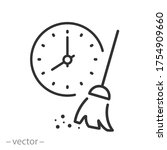 cleaning time icon  sanitary... | Shutterstock .eps vector #1754909660