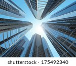 modern corporate buildings in... | Shutterstock . vector #175492340