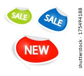 sale and discount icons in... | Shutterstock . vector #175494188