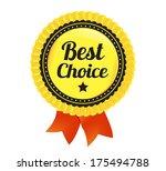 best choice ecommerce badge   Shutterstock .eps vector #175494788