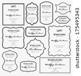 set of frames design elements.... | Shutterstock .eps vector #175495343