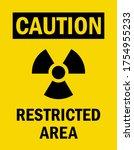 radiation warning sign.... | Shutterstock .eps vector #1754955233