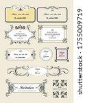 set of ornate vector frames and ... | Shutterstock .eps vector #1755009719