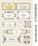 set of ornate rames and... | Shutterstock . vector #1755009896