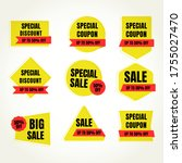 sale and discount promo banners ... | Shutterstock .eps vector #1755027470