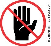 do not touch hand vector icon | Shutterstock .eps vector #1755065399