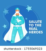 salute to the real heroes... | Shutterstock .eps vector #1755069323