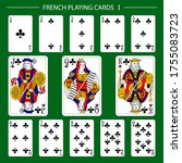 french playing cards suit clubs   Shutterstock .eps vector #1755083723