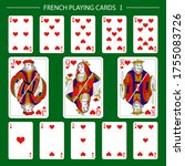 french playing cards suit hearts   Shutterstock .eps vector #1755083726