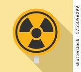 hazard radiation sign icon....   Shutterstock .eps vector #1755096299