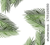 palm theme. palm tree... | Shutterstock .eps vector #1755105050