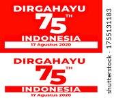 17 august. indonesian... | Shutterstock . vector #1755131183
