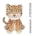 Watercolor Baby Leopard...