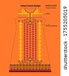 salwar kameez artwork for ready ... | Shutterstock .eps vector #1755205019