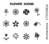 Flower Icons  Mono Vector...
