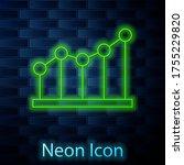 glowing neon line pie chart...