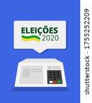 2020 elections   brazil... | Shutterstock .eps vector #1755252209