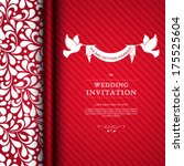 vector wedding card or... | Shutterstock .eps vector #175525604