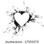 splash heart | Shutterstock .eps vector #17552575